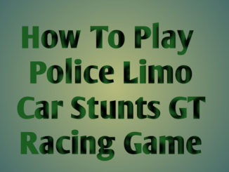 How To Play Police Limo Car Stunts GT Racing